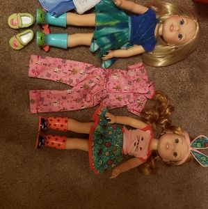 American girl wellie wisher lot